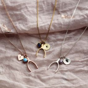 Wishbone Personalised Charm Necklace