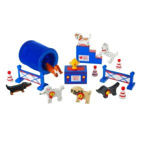 Wooden Dog Show Play Set