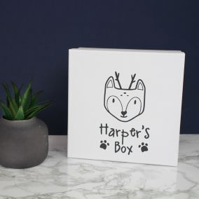 Personalised Woodland Baby Keepsake Box