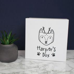 Personalised Woodland Baby Keepsake Box