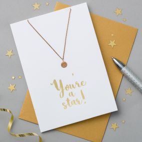 You're A Star Card & Necklace Set