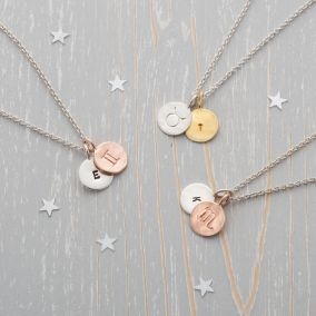 Assorted Zodiac Charm Necklaces to demonstrate the different colour options