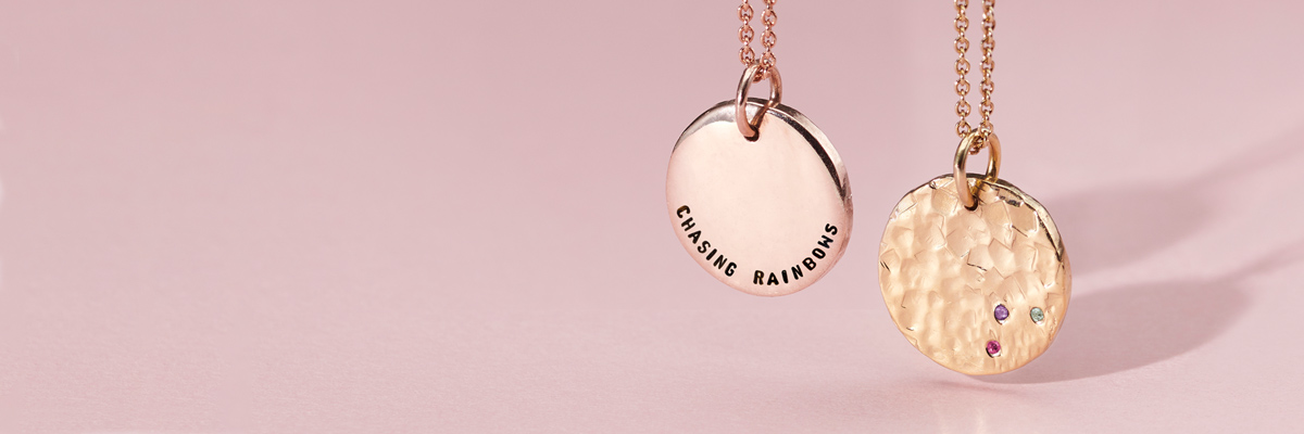 hanging confetti birthstone necklaces