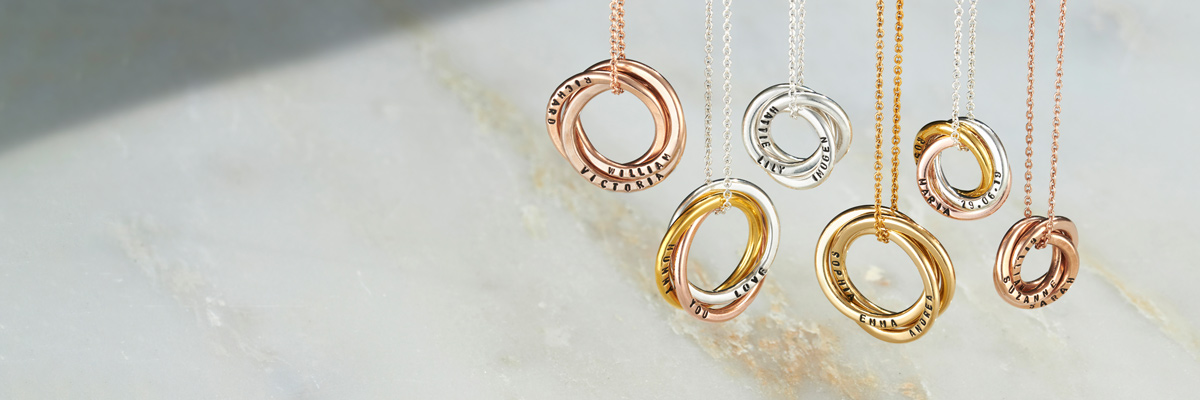hanging russian ring necklaces