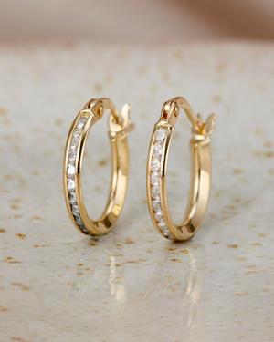 birthstone confetti gold ring