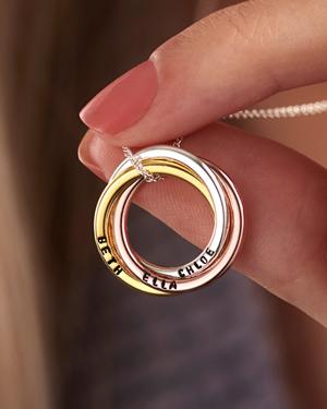 mixed gold russian ring bangle