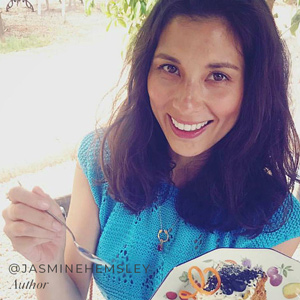 Jasmine Hemsley wearing a personalised necklace