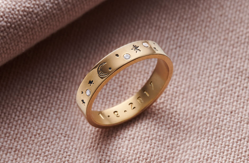 Amirah Custom Bracelet Newborn Baby Christening Gift Personalise Bangle Engraved