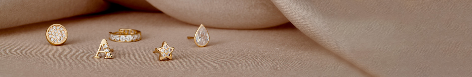 9ct gold earrings with cubic zirconia