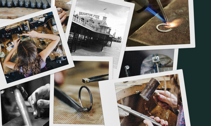 personalised gold ring being made in our workshop