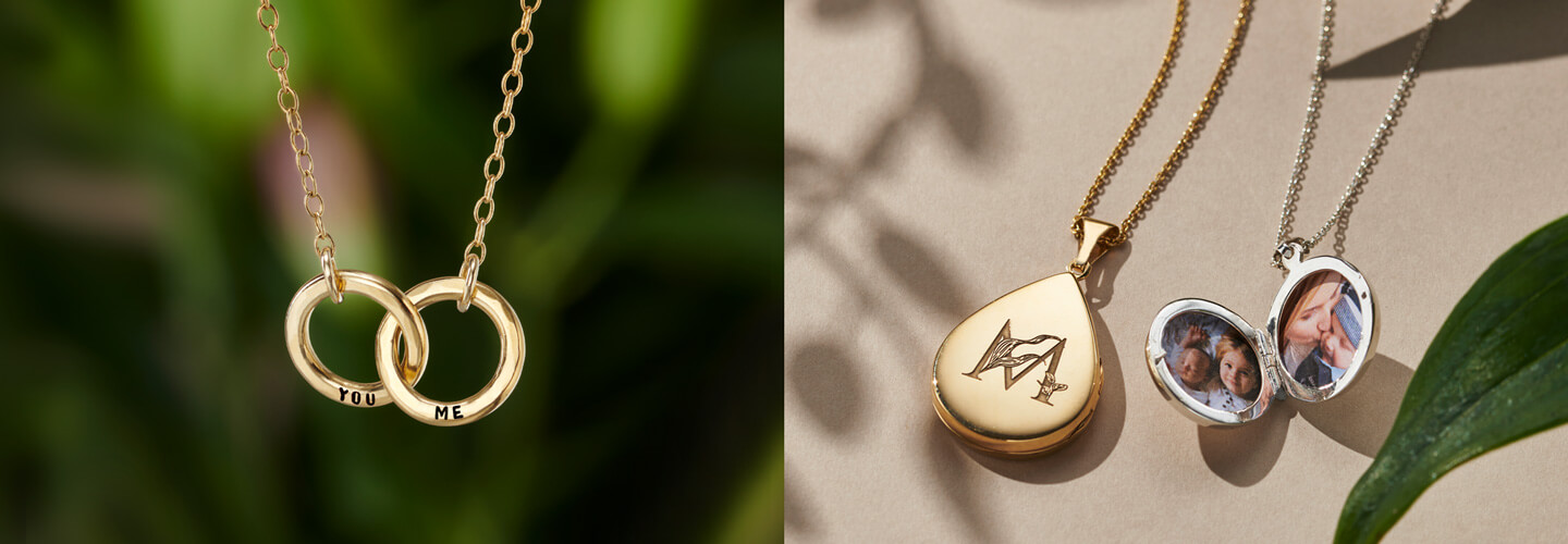 hanging gold plated necklaces