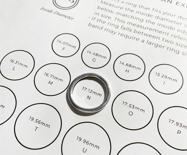 Ring size diameter illustration
