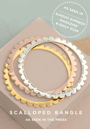 Scalloped Bangle | As Seen In The Press